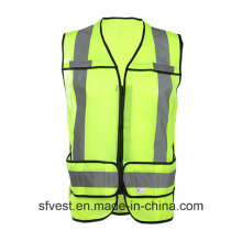 High Quality High Visibility Safety Middle Long Vest