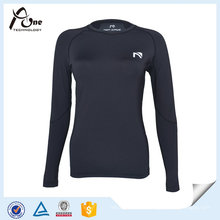 Lady Long Sleeve Wholesale Athetic Wear Compression Shirt