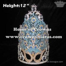 Mask Peacock Beauty Unique Pageant Crowns