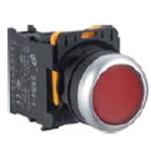 Botão plano, cor vermelha, Ym-Skb0-PA, botão de pressão