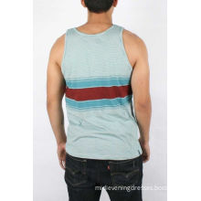 Graphic Casual Tops For Men , Tagless Sleeveless Relaxed With Pattern