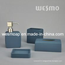 Dark Blue Rubber Oil Coated Porcelain Bathroom Set (WBC0808A)
