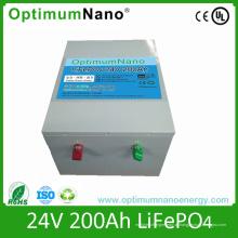 Bateria de armazenamento de 24V 200ah LiFePO4 com BMS
