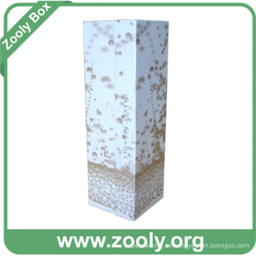Caja de regalo de vino de cartón / caja de botella de papel plegable