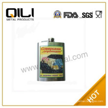 2014 new style whisky stainless steel hip flask with carton pattern