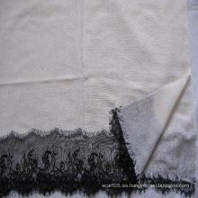 50% de seda 50% de lana de encaje recortar tejido de mantón