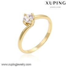 14218 xuping 14k color joyería de cobre ambiental anillo de compromiso de oro de las mujeres