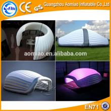 Tenda grande inflável da esfera com luz conduzida, venda inflável da barraca do vagem