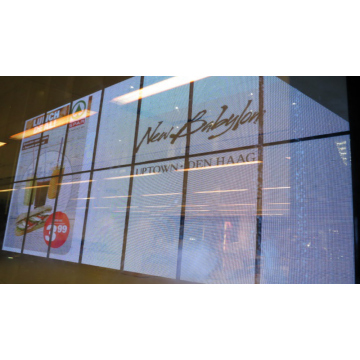 Video publicitario P7.81 Pantalla de cristal transparente LED para interiores