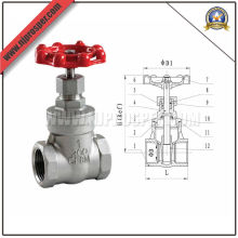 Válvula de compuerta de acero inoxidable bola (YZF-V02)