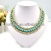 Gold long chain necklace made in China