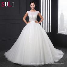 SL-021 Robe de mariée en perles à perles de luxe à perles à perles 2016