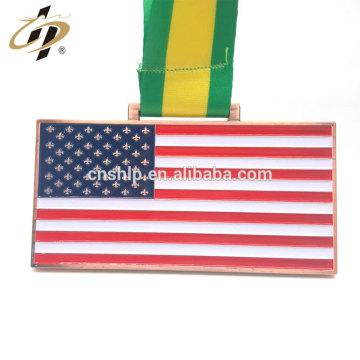 Promotional zinc alloy antique bronze metal American grappling medals