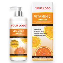 Private Label Natural Organic Clears and Prevents Acne Face Wash Vitamin C Facial Cleanser