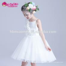 Горячий продавать Корея стиль продажи принцесса девочка платье слоистых спагетти ремень цветочные узоры девочки платья