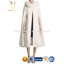 New Style Ladies Fur Trim Pashmina Shawl,Cashmere Shawl with Fur