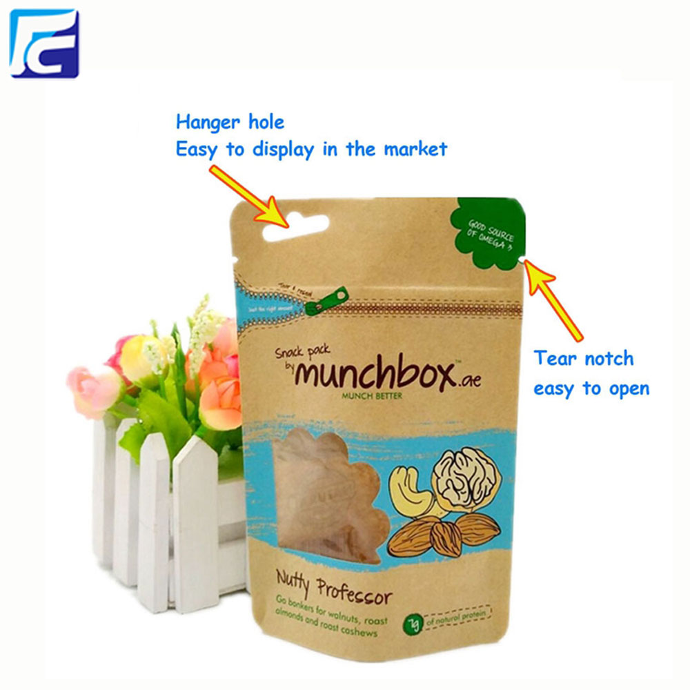 Kraft Paper Bag with ziplock