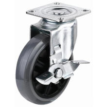 EG01 Swivel PU Caster With Side Brake(Gray)