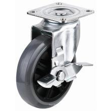 EG01 Rodapé giratório PU com freio lateral (cinza)