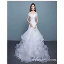 2017 Sweetheart Off Shoulder Tulle Layered Graceful Ball Gown Wedding Dress