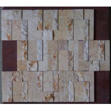 Новая бежевая мраморная мозаика для украшения стен (HSM191)