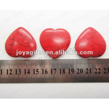 35MM Heart shape red turquoise stone,high polished,high quality,natural heart shape stone