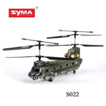 SYMA S022 rc voar tubarão helicóptero voando brinquedo