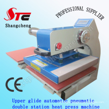 50*60cm Automatic Pneumatic T-Shirt Heat Transfer Machine Upper Glide Pneumatic Double Station Heat Press Machine Digital T Shirt Printing Machine Stc-Qd05