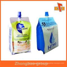 OEM wiederverschließbare laminierte Kunststoff flüssige Seife Tasche mit Auslauf 200ml 400ml