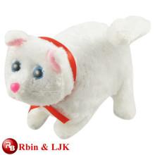 ICTI Auditado Fábrica de alta calidad de promoción personalizada de felpa de juguete gato blanco animado