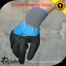 SRSAFETY 13G Knitted nylon Liner Dipping Nitrile Gloves