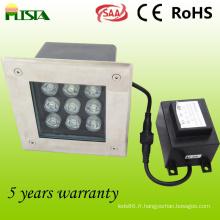 SECURITE ELEVEE LED feux souterrains (ST-DM-9W)