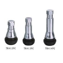 Защелкивающийся бескамерный клапан для шин с хромированной втулкой