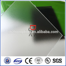 100% bayer 3113 4.5mm clear pc frosted solid polycarbonate sheet