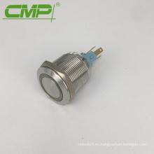 Interruptor de botón iluminado momentáneo o con cierre de acero inoxidable impermeable de 22 mm CMP
