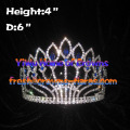 4inch Full Round Pageant Queen Crowns with Diamond