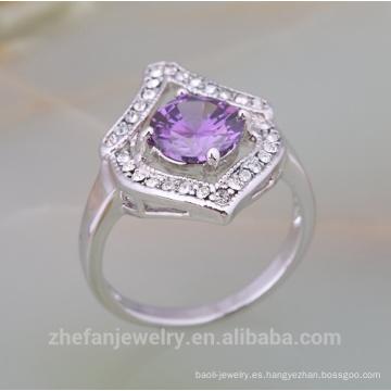precio de la joyería de plata de 1 quilate anillo de ajuste de diente de diamante para las mujeres