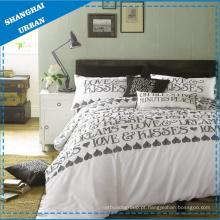 4 PCS conjunto de cama de algodão & capa de edredão