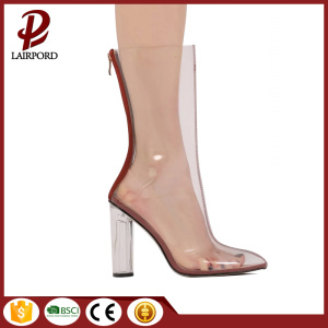 PVC transparent high heel summer cool boots
