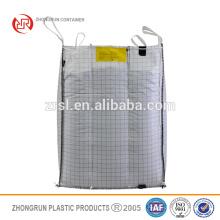 Fibc super ton sac, sac antistatique, pp sac pour produit en poudre, sac d'emballage de grain