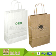 Premium Quality Custom Design Printed Recycle Shopping White Paper Kraft Bags