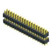 Tipo reto plástico duplo da fileira dupla do passo de 1.00mm