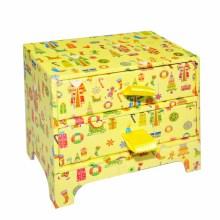Coloque o pacote de caixa de papel de presente de Natal com Ribbion