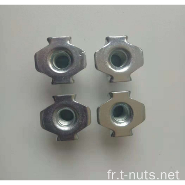 NHF Zinc Plated Furniture Nuts Tee