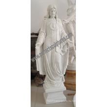 Резной камень резьба Мрамор Иисус Скульптура для религиозной статуи (SY-X1420)