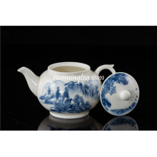 300cc Blue Landscape Ceramic Tea Pot/teapot