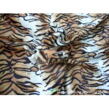Poliéster tigre 2012 listra padrão impresso tecido