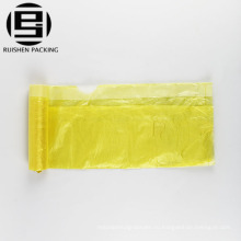 Высокое качество горячая холодная желтые recyclable мешок отброса завальцовки