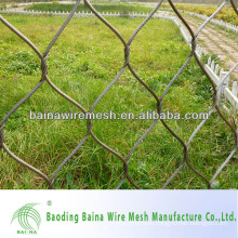 Alibaba china supplier hand woven flexible stainless steel cable mesh