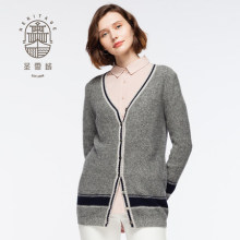 Cardigan donna con bottoni in cashmere